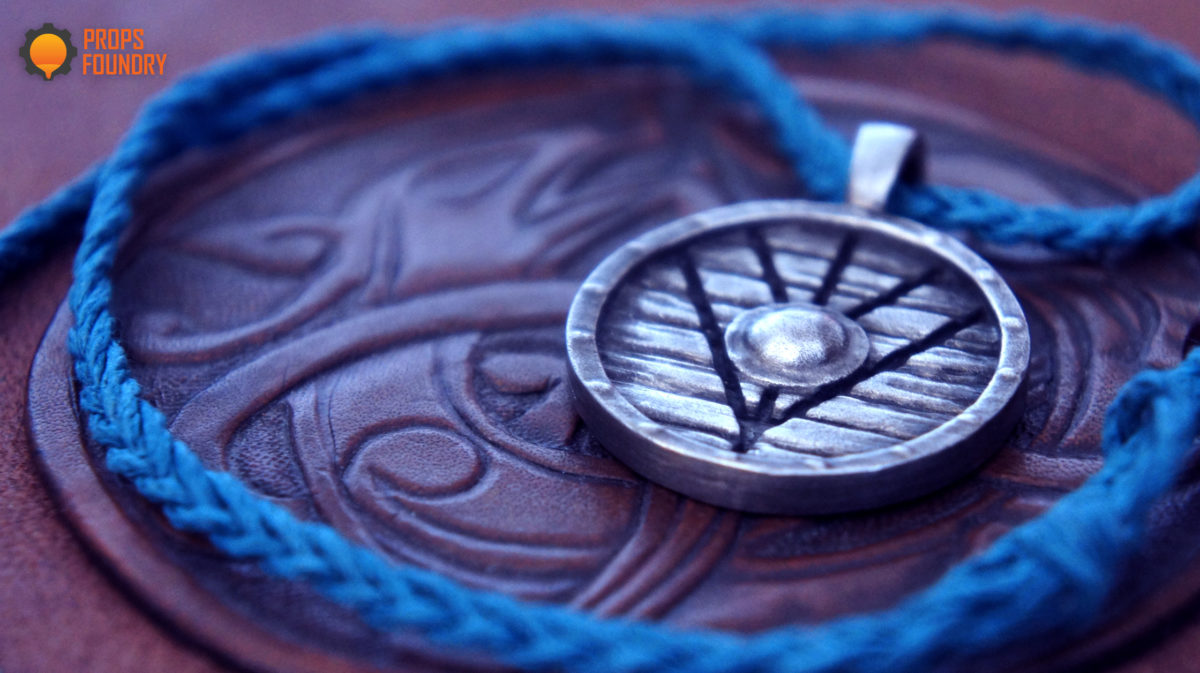 Lagertha Viking Shield Necklace